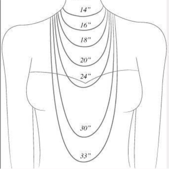 Accessories Womens Necklace Sizing Guide Poshmark